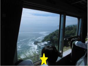 バスから見た景色の写真