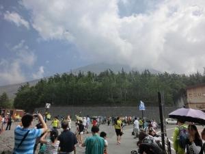 富士山に登る前の写真