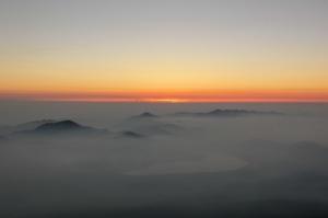 雲の上の写真