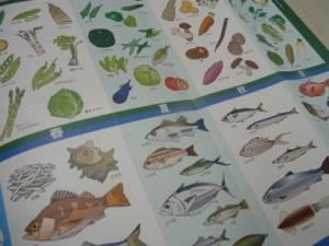 旬の野菜カレンダー・旬の魚介カレンダーの写真