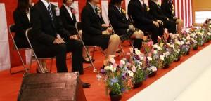 卒園卒業を祝う会の式典の写真