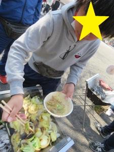 野菜を食べている様子