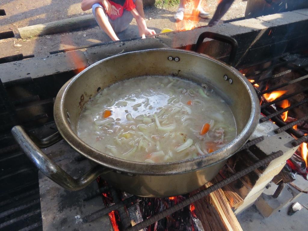 カレーを作る初期段階